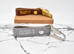 Personalized Coordinate Keychain