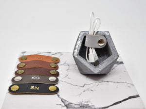 Personalized Leather Cord Keeper