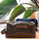 Personalized Canvas and Leather Dopp Kit