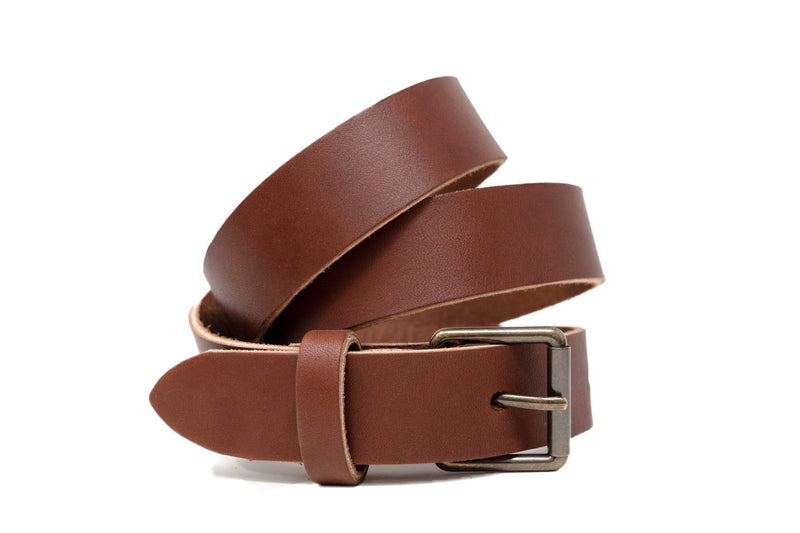 Personalized Leather Belt in Brown
