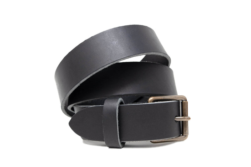 Personalized Leather Belt in Black