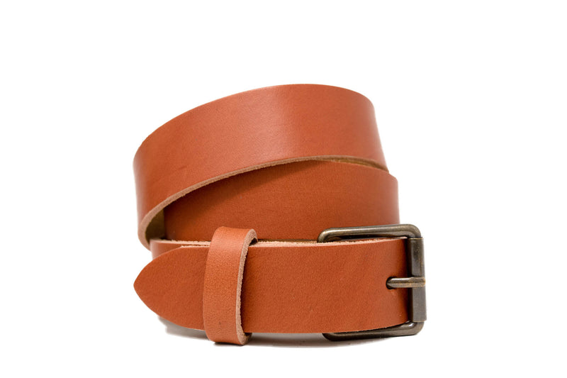 Personalized Leather Belt in Tan