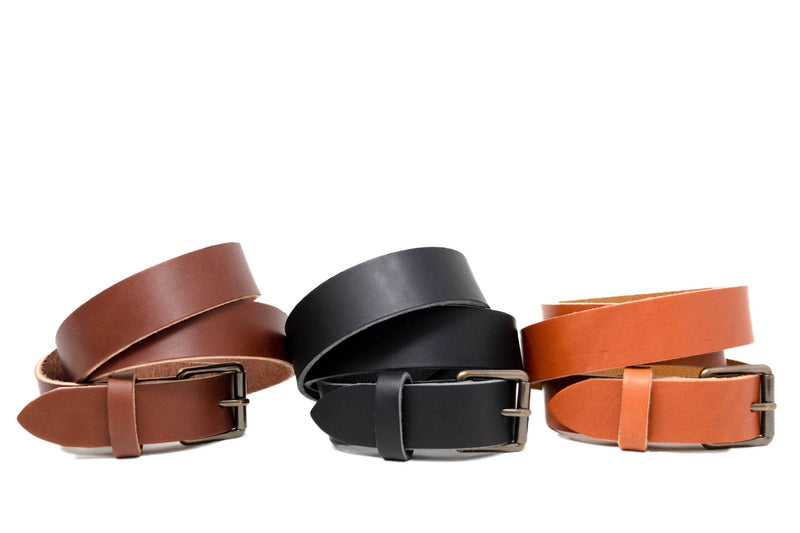Personalized Leather Belt Collection
