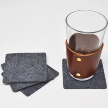 Load image into Gallery viewer, Square Felt Coasters Set