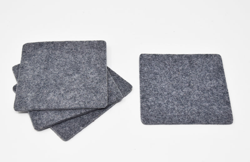 Square Felt Coasters Set