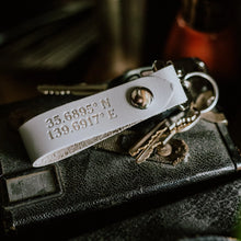 Load image into Gallery viewer, Personalized Coordinate Keychain