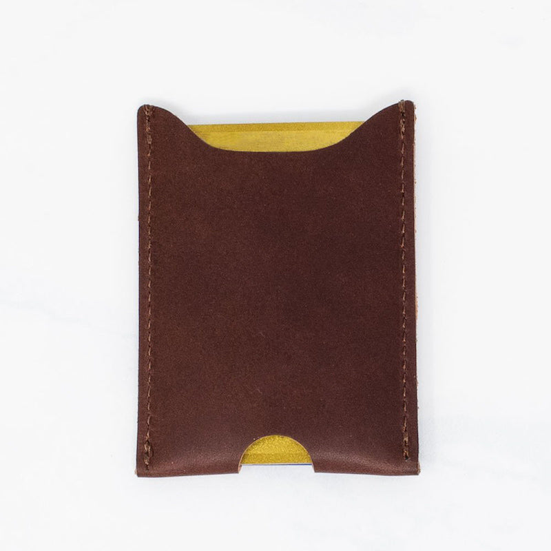 Minimalist Leather Card Sleeve