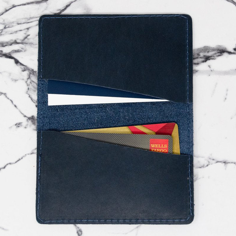 Minimalist Leather Folded Card Case