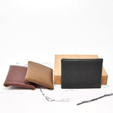 Minimalist Leather Snap Card Wallet