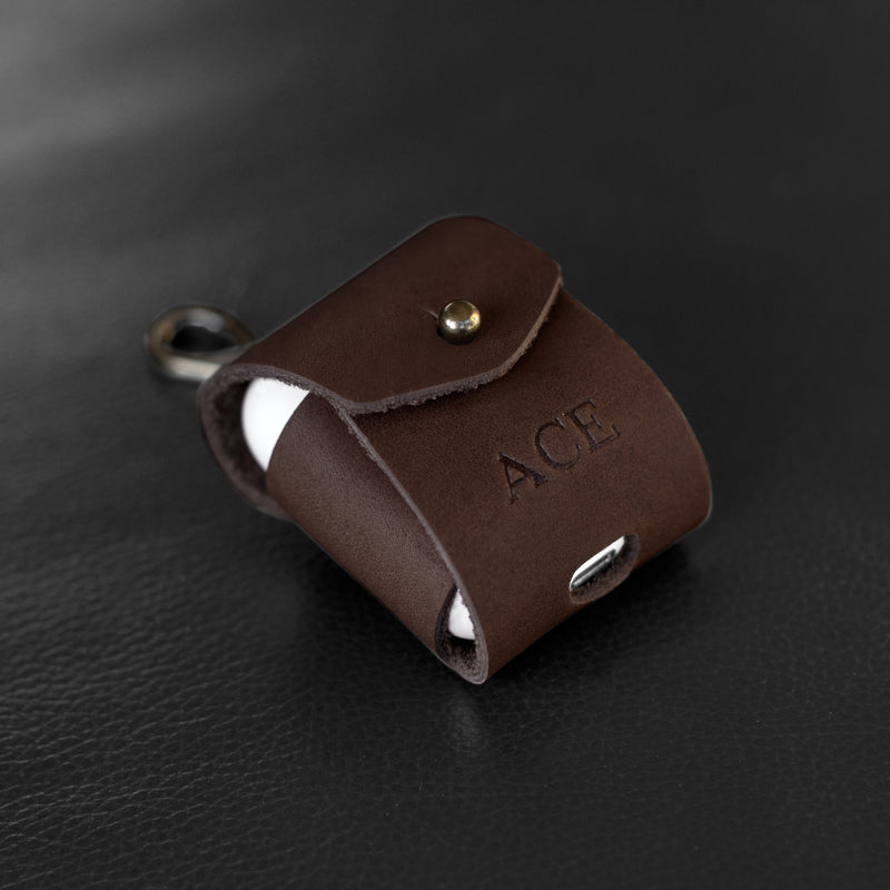 Personalized Leather Airpod Case (Gen. 1 & 2)