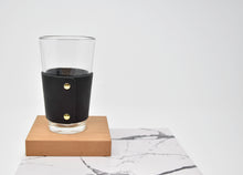Load image into Gallery viewer, Personalized Leather Pint Glass Sleeve