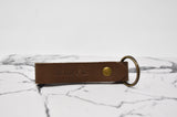 Double Sided Personalized Leather Keychain