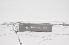 Load image into Gallery viewer, Double Sided Personalized Leather Keychain
