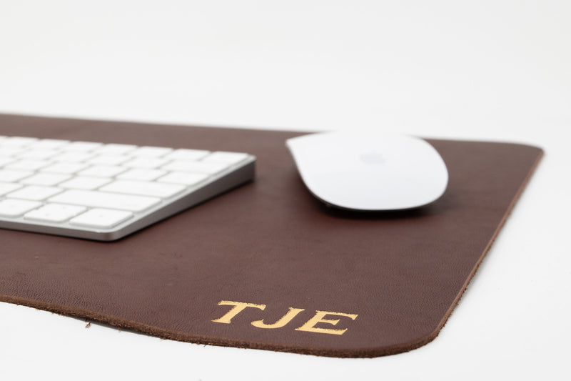 Personalized Leather Desk pad. Monogrammed Desk Pad. Leather Desk Mat. Customized Desk Pad. Desk Blotter. Leather Desk Blotter. Made in USA.