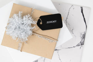 Leather Gift Tags Set of 4. Leather Name Tags. Customized Leather Gift Tags. Personalized Gift Tags. Holiday Gift Tags. Wedding Gift Tags.