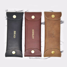 Load image into Gallery viewer, Personalized Leather Pencil Case