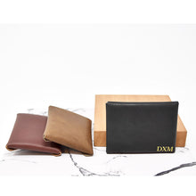 Load image into Gallery viewer, Personalized Leather Card Wallet