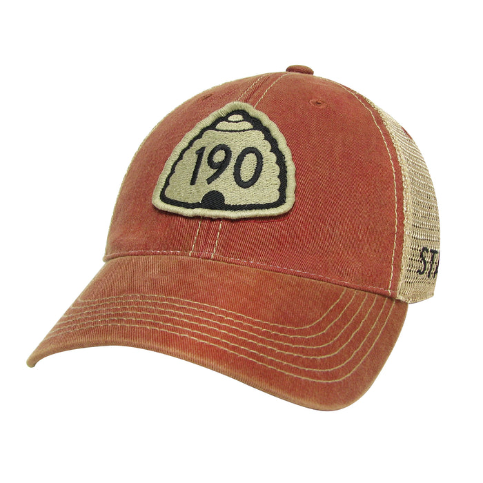 U190 Red Trucker Hat