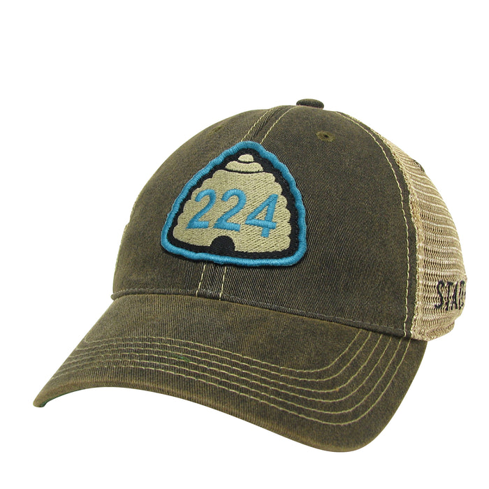 U224 Black Trucker Hat