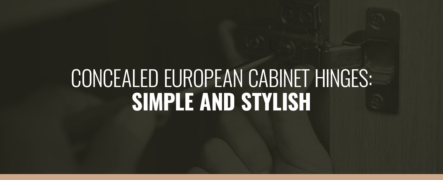 CONCEALED EUROPEAN CABINET HINGES: SIMPLE AND STYLISH