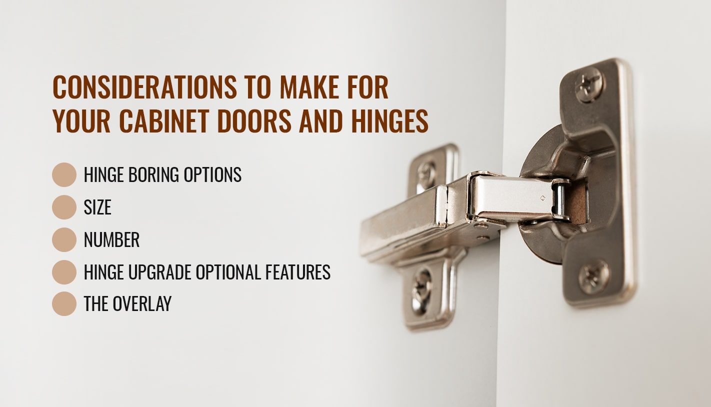 CONSIDERATIONS TO MAKE FOR YOUR CABINET DOORS AND HINGES