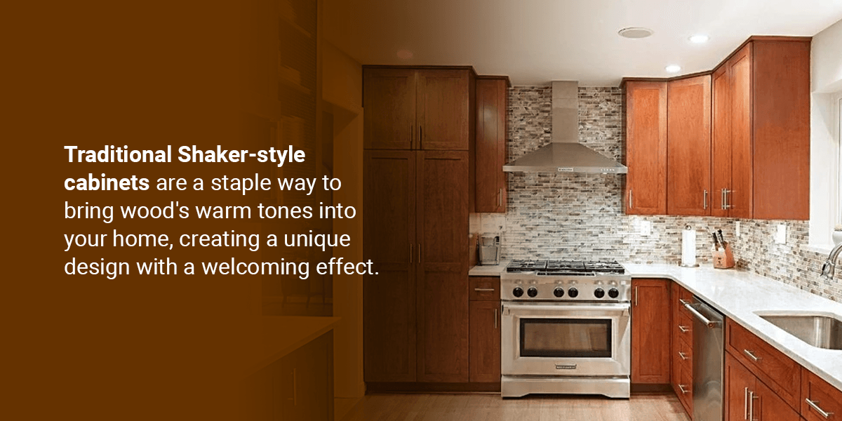 Natural Wood Finish With a Traditional-Style Kitchen