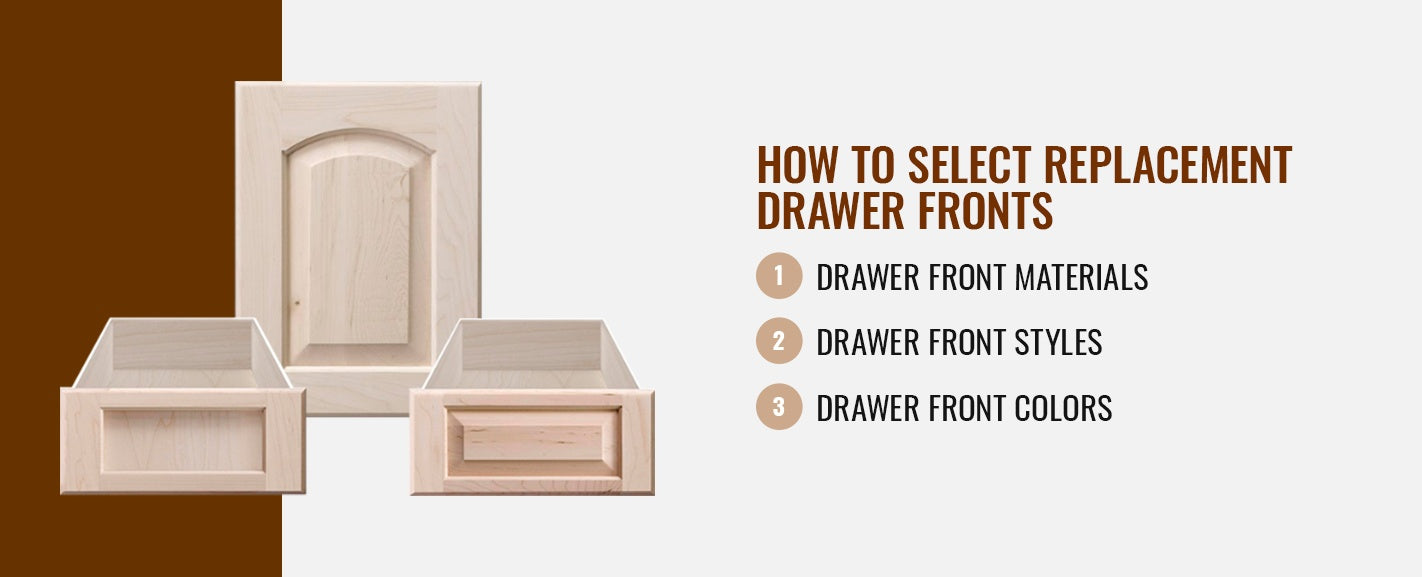 HOW TO SELECT REPLACEMENT DRAWER FRONTS