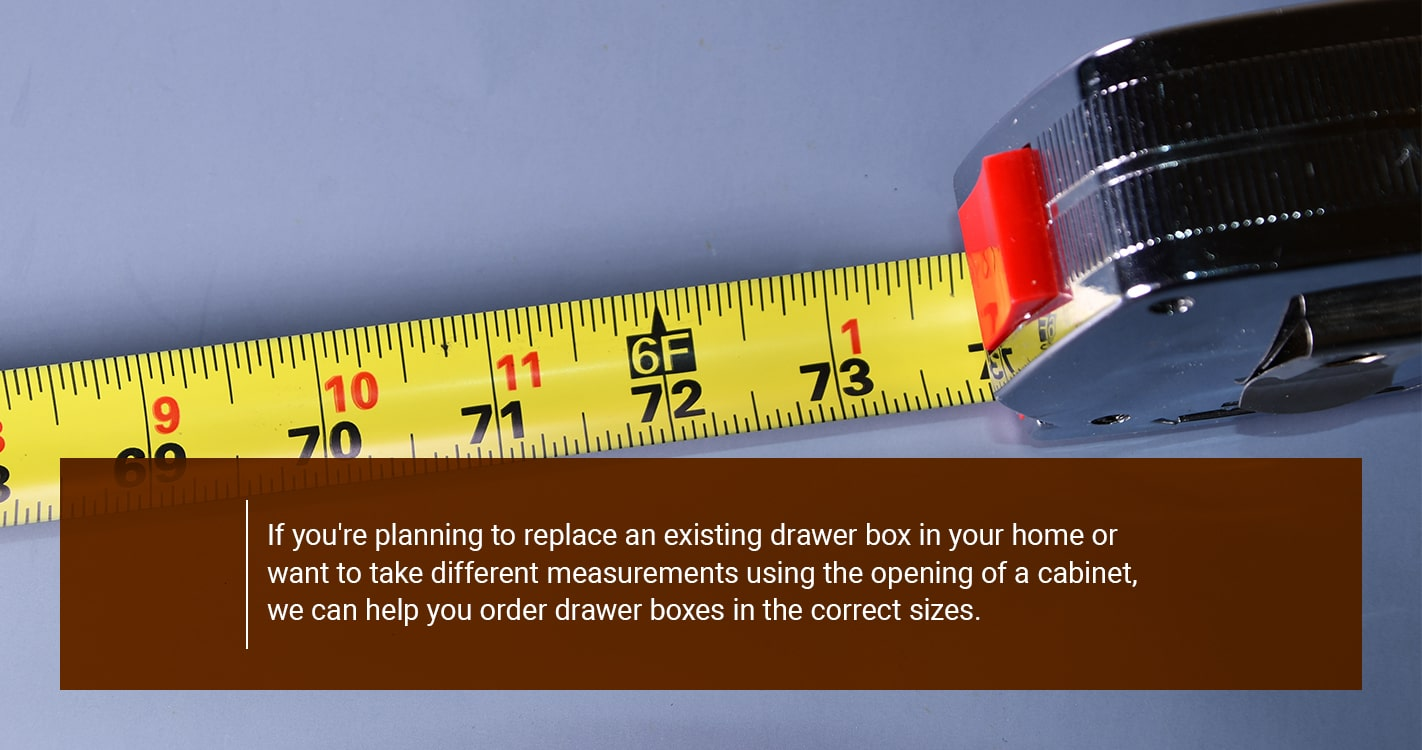 HOW TO MEASURE DRAWER BOXES