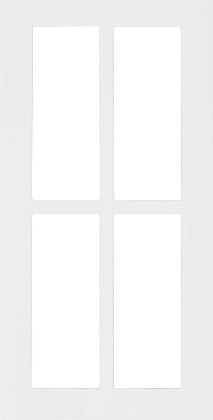 white shaker mullion cabinet doors