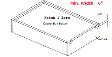 "Replacement Cabinet Drawer Box - 9 1/2"" Height - Cabinet Doors 'N' More"