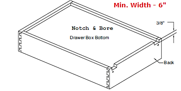 "Replacement Cabinet Drawer Box - 7 1/2"" Height - Cabinet Doors 'N' More"