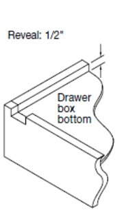 "Replacement Cabinet Drawer Box - 3 1/2"" Height - Cabinet Doors 'N' More"