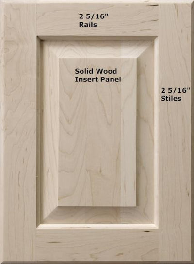 Asheville Raised Square Custom Cabinet Doors - Cabinet Doors 'N' More