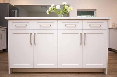 Naples White RTF Shaker Custom Cabinet Drawer Front - Cabinet Doors 'N' More
