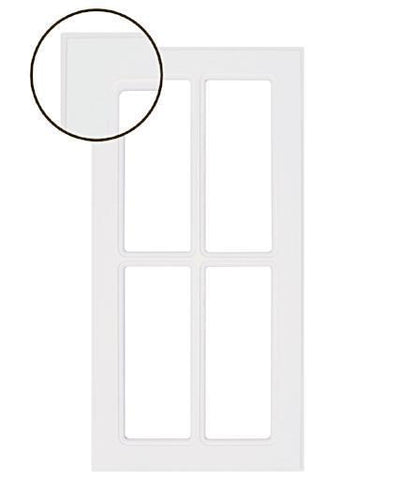 Naples White RTF Mullion Custom Cabinet Door - 4 lite - Cabinet Doors 'N' More