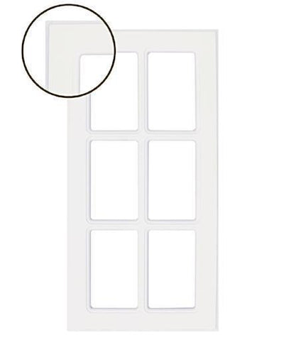 Naples White RTF Mullion Custom Cabinet Door - 6 lite - Cabinet Doors 'N' More
