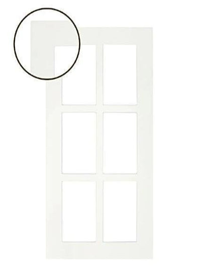 Naples White RTF Shaker Mullion Custom Cabinet Door - 6 lite - Cabinet Doors 'N' More