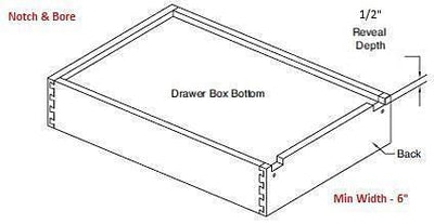"Replacement Cabinet Drawer Box - 12"" Height - Cabinet Doors 'N' More"