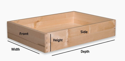 "Replacement Cabinet Drawer Box - 3 1/2"" Height Drawer Box Cabinet Doors 'N' More"