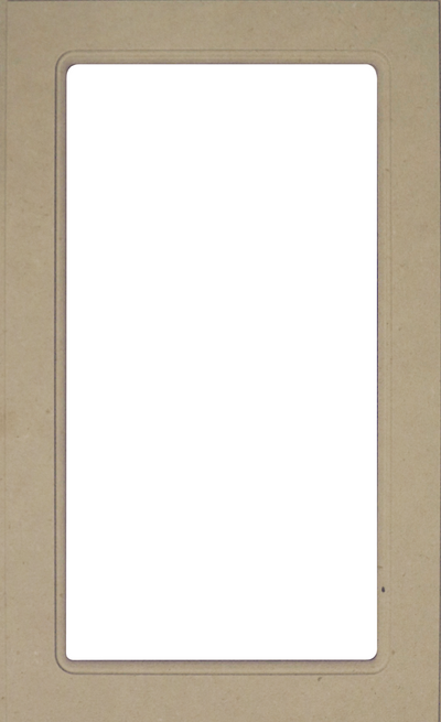 Naples White RTF Mullion Custom Cabinet Door - 1 lite/frame only Cabinet Door Cabinet Doors 'N' More