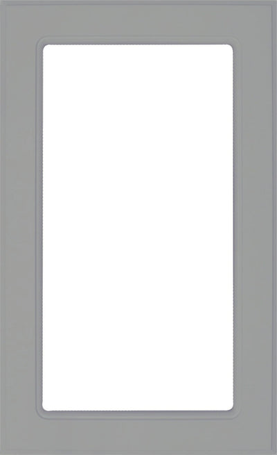 Naples Smoke Grey RTF Mullion Custom Cabinet Door - 1 lite/frame only - Cabinet Doors 'N' More