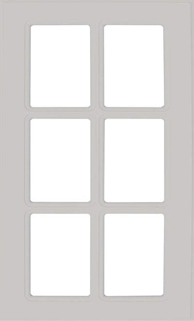 Naples Thermofoil Mullion Custom Cabinet Doors - 6 lite Cabinet Door Cabinet Doors 'N' More Stone Grey RTF