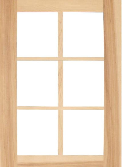 Wilmington Shaker Mullion Custom Cabinet Doors - 6 lite - Cabinet Doors 'N' More