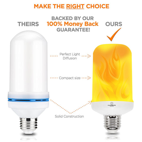 LED Flame Effect Light Bulb - 1 Pack