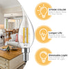 Image of E12 LED Chandelier Light Bulbs, 40 Watt Equivalent, Candelabra Base, 2700K Soft White, LED Candle Light Bulbs for Ceiling Fan, 6 Pack