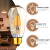 Image of Dimmable LED Edison Light Bulbs: 4 Watt, 2200K Warm Lightbulbs - Amber Gold Glass - 40 Watt Equivalent - E26 Base - Decorative Vintage Light Bulb Set - 4 Pack
