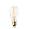 Image of Vintage Incandescent Edison Bulb Set: 60 Watt, 2100K Warm White Edison Light Bulbs - E26 Base - 230 Lumens - Clear Glass - Dimmable Antique Exposed Filament - ST58 Decorative Lightbulbs - 4 Pack