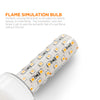 Image of LED Flame Effect Torpedo - E12 Base