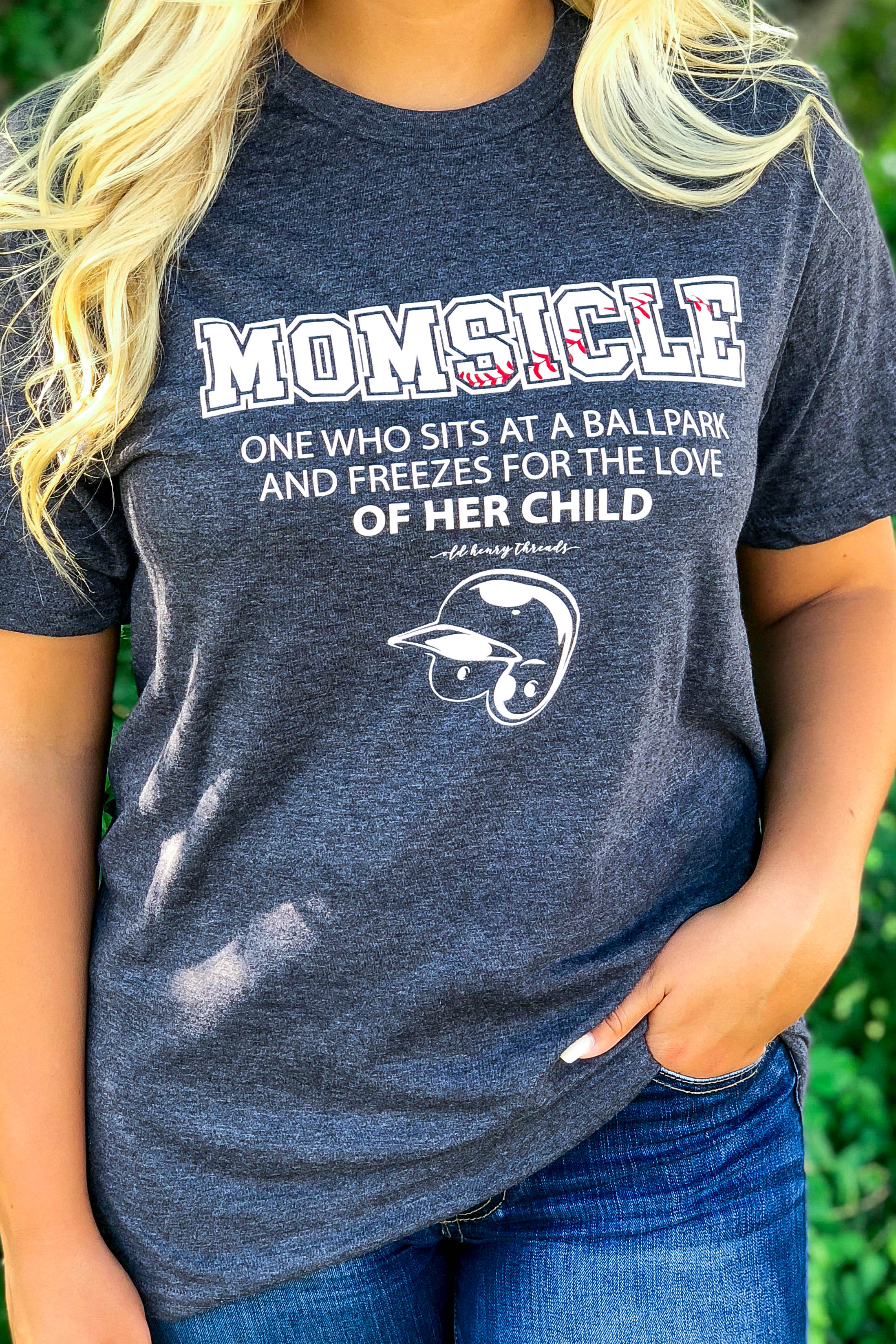 66f8f2454 Momsicle T-Shirt - Heather Charcoal – Old Henry Threads
