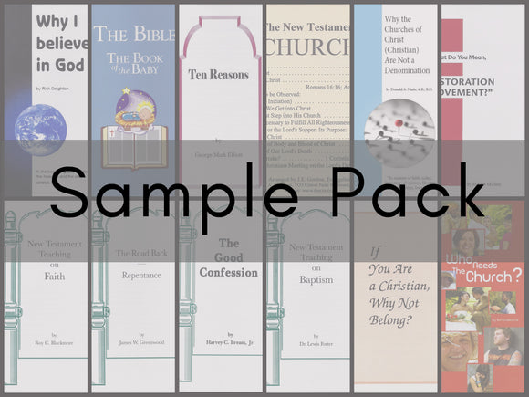 Free Sample Pack of Available Tracts (Shipping Fees Apply)